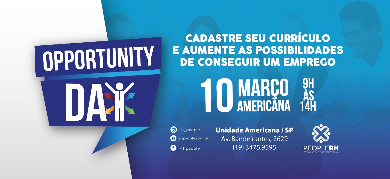 People RH promove Opportunity Day em Americana 39c57edfc4e2e